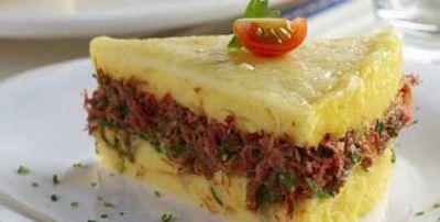 Polenta ao Forno com Carne Seca