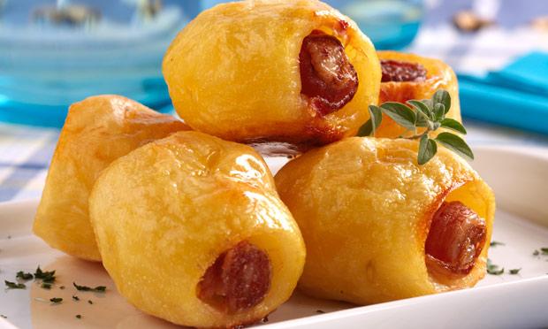 Batata assada com bacon