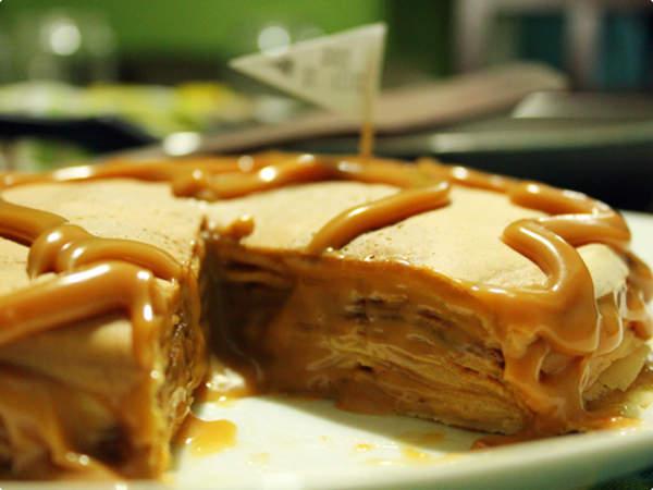Torta de Panqueca Sabor Doce de Leite