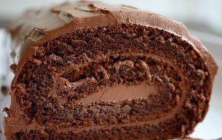 Rocambole de Chocolate sem Farinha