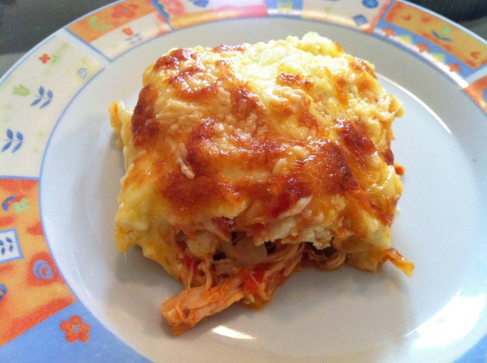 Lasanha de frango e 4 queijos