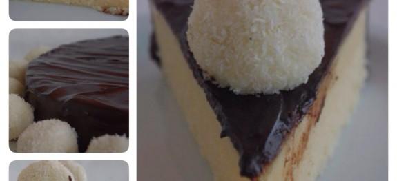 Pudim de Côco e Chocolate com Beijinhos
