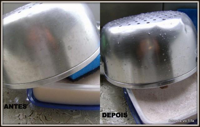 Pasta para limpar panelas e dar brilho !