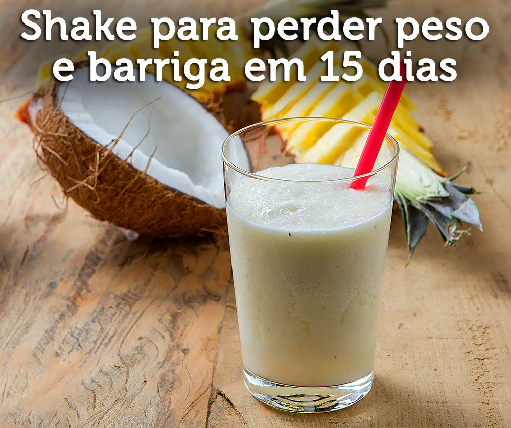 Shake refrescante de abacaxi e coco