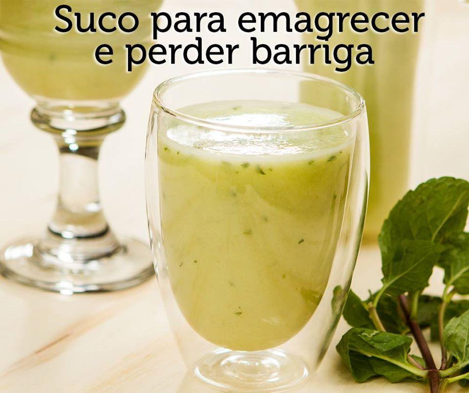 Suco detox- abacaxi, hortelã e linhaça