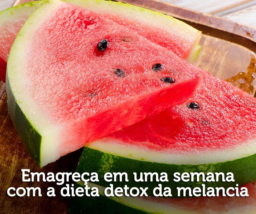 Suco detox de melancia com gengibre