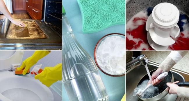 10 usos surpreendentes do vinagre e do bicarbonato de sódio para limpar a casa e as roupas