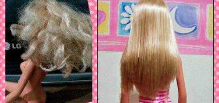 Como alisar os cabelos da boneca Barbie