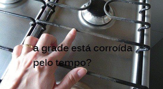 Restaure as grades do seu fogão
