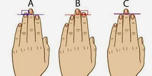 Você sabia que o comprimento dos dedos de suas mãos podem revelar coisas sobre sua personalidade?