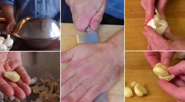 3 truques geniais para descascar alho em segundos