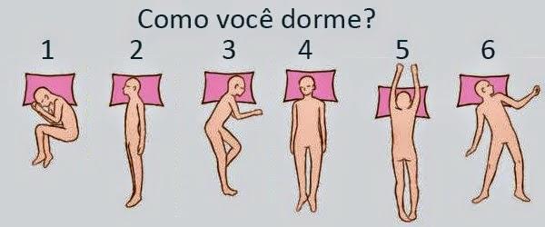 posição de durmir