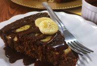 Bolo de chocolate com banana (funcional)