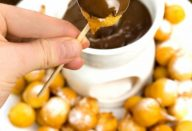 Fondue de Bolinho de Chuva com Nutella