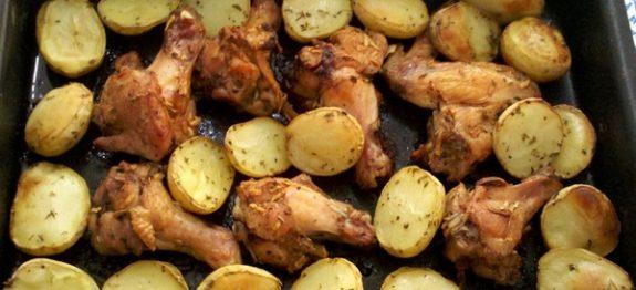 Frango com Batatas ao Forno