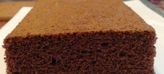 Massa de Pão de Ló de Chocolate