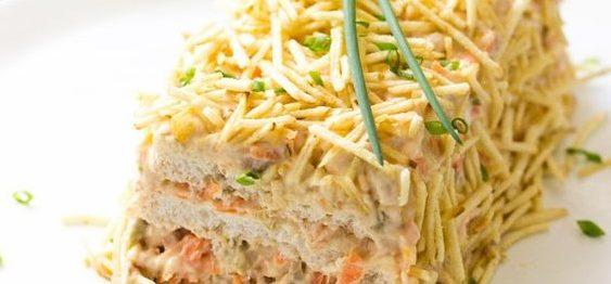 Torta fria de atum simples e fácil