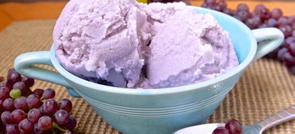 como fazer sorvete caseiro de uva