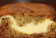 pão de banana com recheio de cheesecake