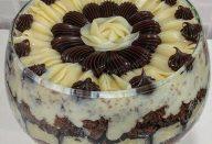 Bolo de chocolate  cremoso recheio de coco, e cobertura de brigadeiro