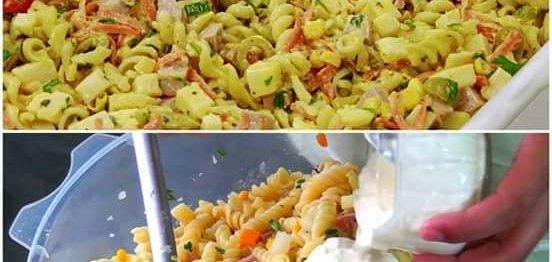 Salada Prática de Macarrão - Impressione geral!