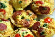 Bolinhos de Omelete Coloridos