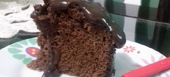 Bolo de Chocolate na Panela de Arroz