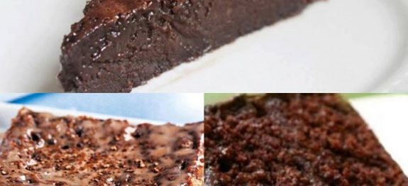 Bolo gelado de chocolate e leite condensado