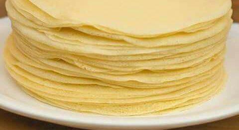 Massa de Panqueca sem leite