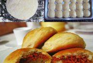 Pão de batata recheado com calabresa e catupiry