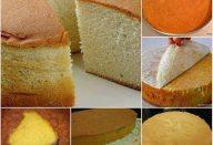 Pão de ló para bolos de aniversario