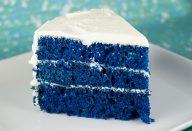 Receita de Bolo Blue Velvet (Veludo Azul