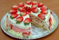 Receita de Torta de Morango Cremosa