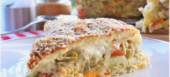 Torta Salgada com Massa de Arroz