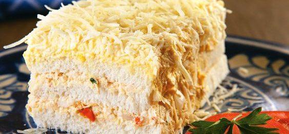 Torta gelada de pão de forma