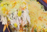 Arroz de forno em camadas