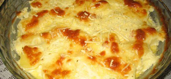 Batata Gratinada com 3 Ingredientes