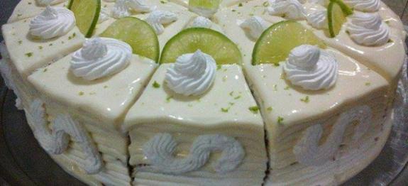 Bolo Mousse de Limão