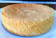 Pão de Ló sem Fermento com Apenas 3 ingredientes