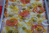 Pizza deliciosa de Pão de Forma!