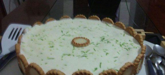 Receita de Torta de limão cremosa