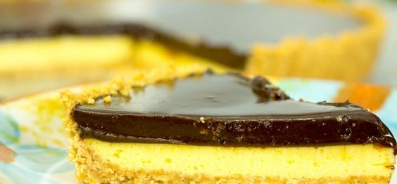 Torta de maracujá com chocolate fácil