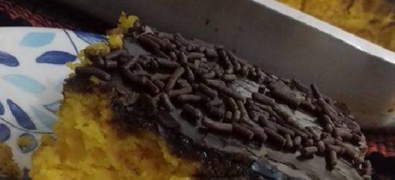 Bolo de Cenoura com Casquinha de Chocolate