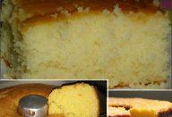 Gente esse bolo é muito fofo e fica bem molhadinho. Vai apenas 5 ingredientes e faz o maior sucesso