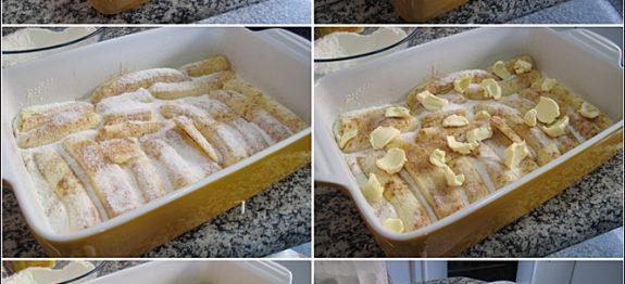 torta de banana preguicosa
