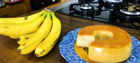pudim de banana