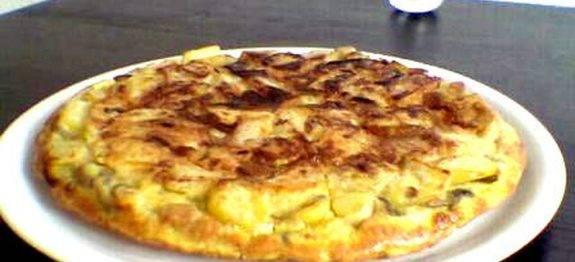 batata frita omelete